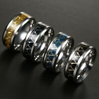 Assassins Creed Titanium Steel  Band Ring Stainless Men Size 6-13  multi-colored
