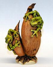 Harmony Kingdom Artist Neil Eyre Designs Tree Frog Frogs Onion garden Vegetable