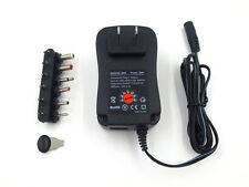 AC/DC US POWER ADAPTOR/SUPPLY 600MA/0.6A 3V/4.5V/5V/6V/7.5V/9V/12V REGULATED