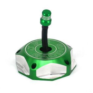 Billet Green Gas Fuel Tank Cap Cover For Kawasaki KX250F KX450F KLX450R KFX450R