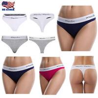 Women Seamless Thong Soft Cotton Underwear Panties Lot of 3-10pcs Casual Comfort