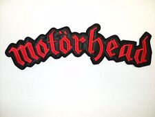 MOTORHEAD  RED LOGO    EMBROIDERED BACK PATCH