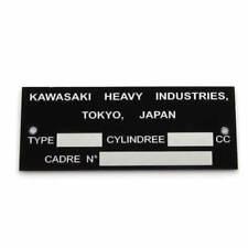Plaque mines Constructeur Suzuki Tokyo Japan Mines vin VIN typenschild