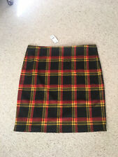 New George Black/red/yellow Check Stretch Skirt - Size 24