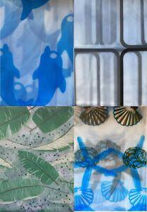 Printed PEVA Shower Curtain Bathroom Waterproof Assorted Designs 180x180cm