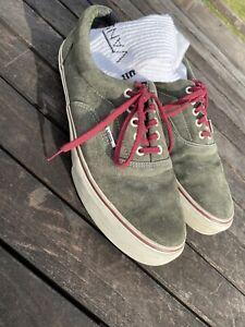 Vans Pro Classics Ultracush Custom 1/1 rare skate shoes Green Suede Free Socks