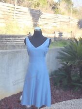 ANN TAYLOR BLUE KNEE LENGTH SLEEVELESS FORMAL CAREER DRESS SIZE 4