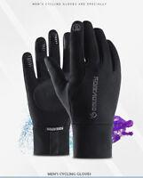 For Women Genuine Lambskin Leather Button Wrist Winter Warm Fleece Lining Gloves