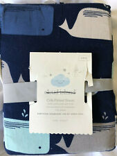 Cloud Island Fitted Crib Sheet Whales nursery bedding new #28991
