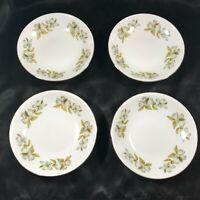 """Set of 4 Vintage WINTERLING BAVARIAN CHINA Dogwood Pattern 5-1/2"""" Dessert Bowls"""