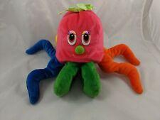 "Fiesta Octavio Bean Bag Octopus Plush 13"" Multi Color Rainbow Stuffed Animal"