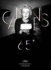 Affiche Roulée 60x80cm FESTIVAL DE CANNES (65 EME) 2012 Marilyn Monroe NEUVE