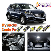 7 x Super White Interior LED Lights Package Kit for 2013 - 2018 Hyundai Santa Fe
