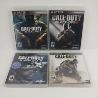 Lot Of 4 Call Of Duty PS3 Games - Modern Warfare, Black Ops 1 and 2, Ghosts 🔥