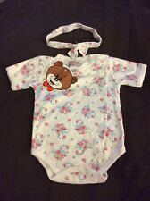 """Fred Bear"" Infant One Piece With Head Band-Size 3 to 6 Months-New with Tags"