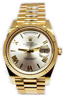 NEW Rolex Day-Date President 40mm 18k Yellow Gold Watch Box/Papers 228238