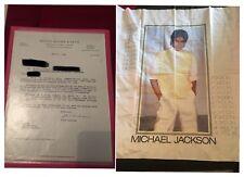 Michael Jackson Neverland Rare Paper Letter Document Trial + Flag Rare Drapeau
