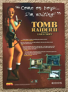 TOMB RAIDER II - 1997 full page UK magazine ad LARA CROFT PLAYSTATION