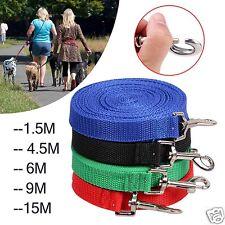 1.8m/4.5m/6m/9m/15m Pet Dog Lead Leash Obedience Training Recall Rope Pet Supply