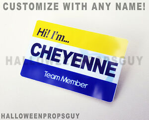 SUPERSTORE Style CLOUD 9 Pin Badge Custom PVC Name Tag - Customize with Name