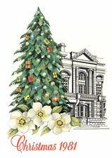 (00167) Trikot Weihnachtsbaum 1981 unveröffentlicht (Postamt ausgegeben)
