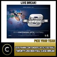 2019 PANINI CONTENDERS OPTIC NFL 20 BOX (FULL CASE) BREAK #F439 - PICK YOUR TEAM