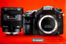 Sony A77 con objetivo Sony DT 16-50 mm f/2.8 SSM impecable, sólo 2.059 disparos