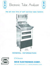 Operation Manual For Seco 1100 Tube Tester + Extra Info+