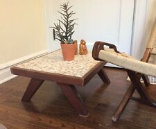 Mid Century Modern Coffee Table 1960's Mosaic Tile Top Low To Ground Martz ERA
