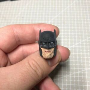 "Painted 1/12 Scale Batman The Dark Knight Head Sculpt fit 6"" Figure Mez One:12"