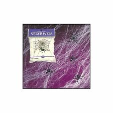 Lot 6 Stretchable Spider Web Scary Halloween Direction with 1 free spider