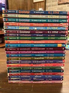 goosebumps lot 22 books