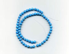 """Turquoise Howlite (dyed) 6mm round, 14.25"""" strand, approx 64 beads"""