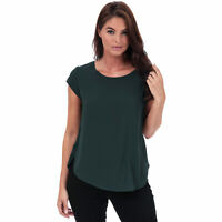 Womens Only Vic Short Sleeve Top in green gables.