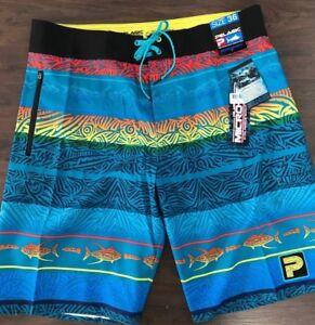 Pelagic Board Shorts - Micro-Tek Island Time