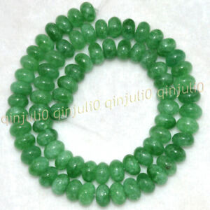 5x8mm Rondelle Green Emerald Natural Gemstone Smooth Loose Beads 15'' Strand