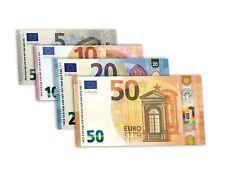 100 Euro's  Mixed Denomination Euro notes Holiday  money Bills