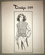 Vintage Mail Order Knit Pattern Design 599 Knitted Vest One Size Fits Sizes 8-14