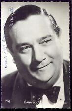 AUTOGRAPHE de GABRIELLO. acteur Français. chansonnier. photo dédicacée.1943