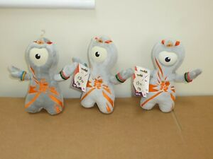 Official London 2012 Olympic Mascot - 3 Soft toy Wenlock - New