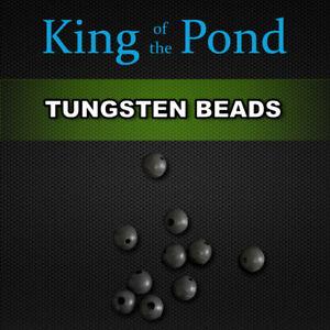 Tungsten beads 5mm x10 -  carp fishing, carp rigs, naked chod