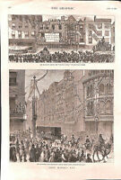 Bishopsgate St.City.Lord Mayor's Day.1877.The Graphic.London.Gracechurch St.