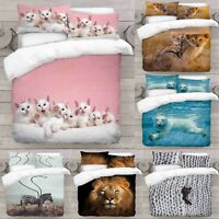 UK Made 3D Duvet Quilt Cover With Pillowcases New Animal Design Digital Print