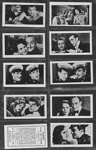 RJ Hill 1938 Set 40 Scenes from the Films.  B/W Stills Informative text   (F59)