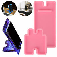 DIY Mobile Phone Stand Epoxy Resin Mold Cellphone Holder Silicone Mould Crafts