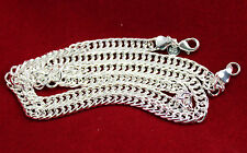 """Fascinating  Silver Flat  Chain Charm Pendant Necklace 23"""""""
