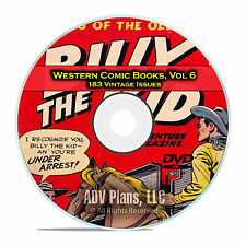 Western Comic Books, Vol 6, Prize Comics Western, Pawnee Bill Golden Age DVD D64