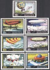 Mongolia 1977 Air Balloons/Zeppelin/Airships 7v n11580