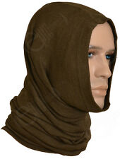 Czech Army Brown Tube Scarf - Neck Warmer Winter Motorcycle Unissued Snood Ski