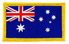 FLAG PATCH PATCHES AUSTRALIA AUSTRALIAN IRON ON COUNTRY EMBROIDERED WORLD SMALL